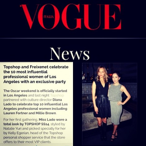 You become like the people you spend the most time with so surround yourself with people who uplift you and whose presence calls forth your best. Honored to be 1 of the 10 Most Influential Women of Los Angeles. Thank You @VogueItalia @TopShop @LadoDiano