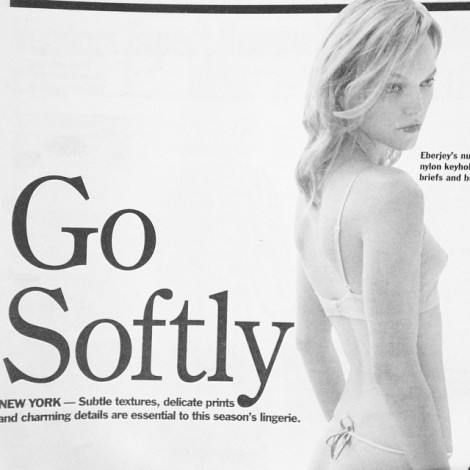 """Be soft. Do not let the world make you hard. Do not let pain make you hate. Do not let the bitterness steal your sweetness. Take pride that even though the rest of the world may disagree, you still believe it to be a beautiful place."" #TBT #GoSoftly #BeSoft #WWD #Eberjey #Lingerie #Beautiful"