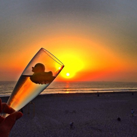 #Beautiful #Easter #Sunset #Champagne #Rubber #Ducky #Love From #California ️