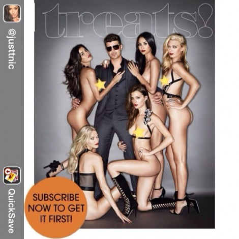 I guess we're celebrating Halloween already! Repost from @justtnic @treatsmag #TrickOrTreat #RobinThicke #Bums #GetYours