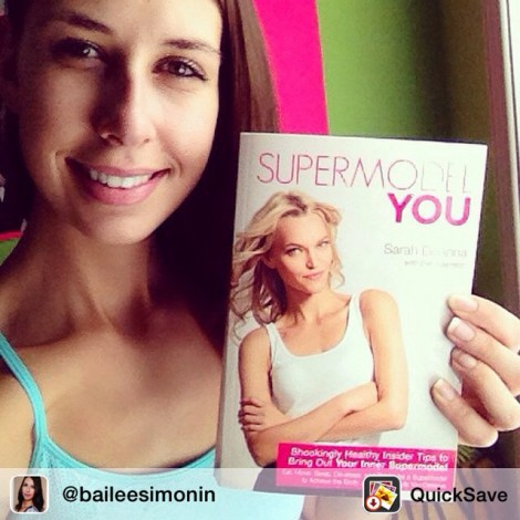 #BeautifulGirl #BeautifulPost Repost from @baileesimonin via Supermodel You! One of the best books I have read ! :) full of great tips and advice from a beautiful supermodel! @supermodelyou thanks Sarah! #love #supermodel #model #supermodelyou #book #healthy #fit #tips ️