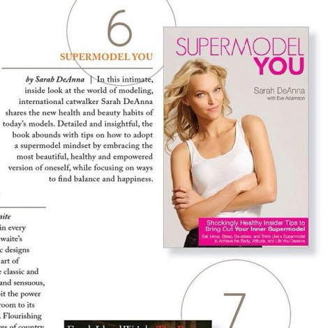 """Just in case you didn't know… I'm not just a model! I also wrote a bestselling book! Thanks for the positive book review. Sharing this message makes me happier than anything else in life.  #IAmGrateful #BookReview #Read #Books #BookClub #Bestseller """"In this intimate, inside look at the world of modeling, international catwalker Sarah DeAnna shares the new health and beauty habits of today's models. Detailed and insightful, the book abounds with tips on how to adopt a supermodel mindset by embracing the most beautiful, healthy and empowered version of oneself, while focusing on ways to find balance and happiness"""
