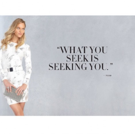 """I believe wholeheartedly that everything you desire, want, dream of & strive for: the body, the job, the health, the relationship, the lifestyle… it also wants you! It does exist. It is possible. Never quit believing! """"What You Seek Is Seeking You."""" #BCBG #BCBGMaxazria #Quotes #FavoriteQuote #QuoteOfTheDay #BelieveInYourDreams #Wholeheartedly #BelieveInYou #NeverQuit #Believe"""