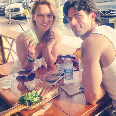 What's for lunch? How about one of #PeopleMagazine 's #Sexiest #Man alive? Or #GreenJuice, pumpkin chia seed pudding, & #Kombucha at my favorite local #HealthFood spot @thesourcecafehb Thank you @PeopleMag for honoring this incredible person, teacher, influencer & friend! Congratulations @nicholasferroni #SexiestManAlive