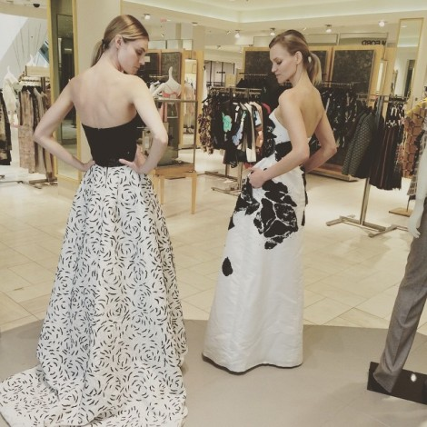 Just out shopping in these #Stunning #BlackAndWhite #OscarDeLaRenta gowns at @neimanmarcus #BeverlyHills @lamodelsrunway with @marzrover