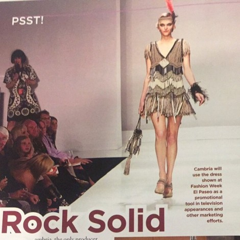 This dress is made from rock, quartz rather #RockSolid @cambriaquartz ️@lamodelsrunway